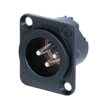 Conector XLR 3P Macho Chasis