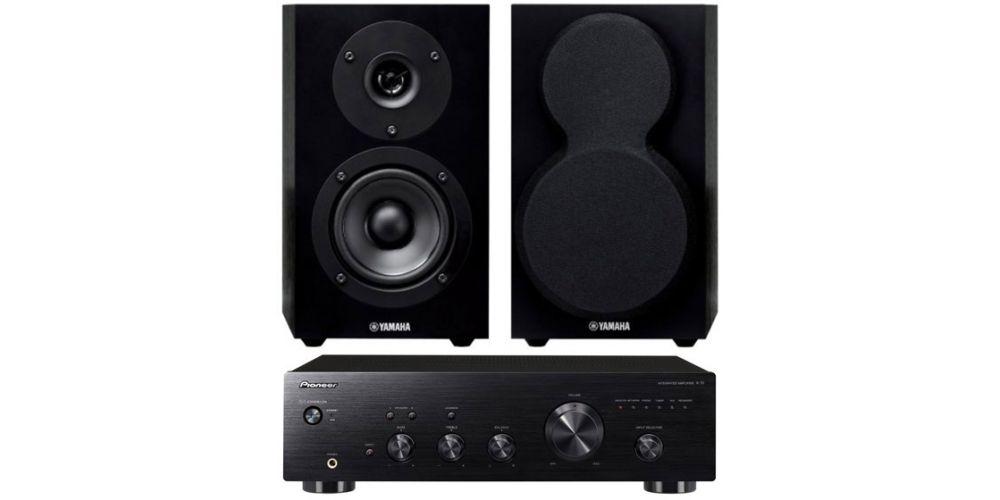pioneer a 10 amplificador black yamaha nsbp150