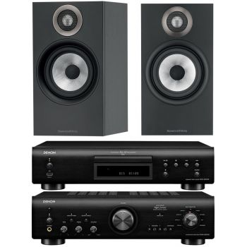 Denon PMA800 AE Black+DCD800Black+B&W 607 Black Conjunto Sonido