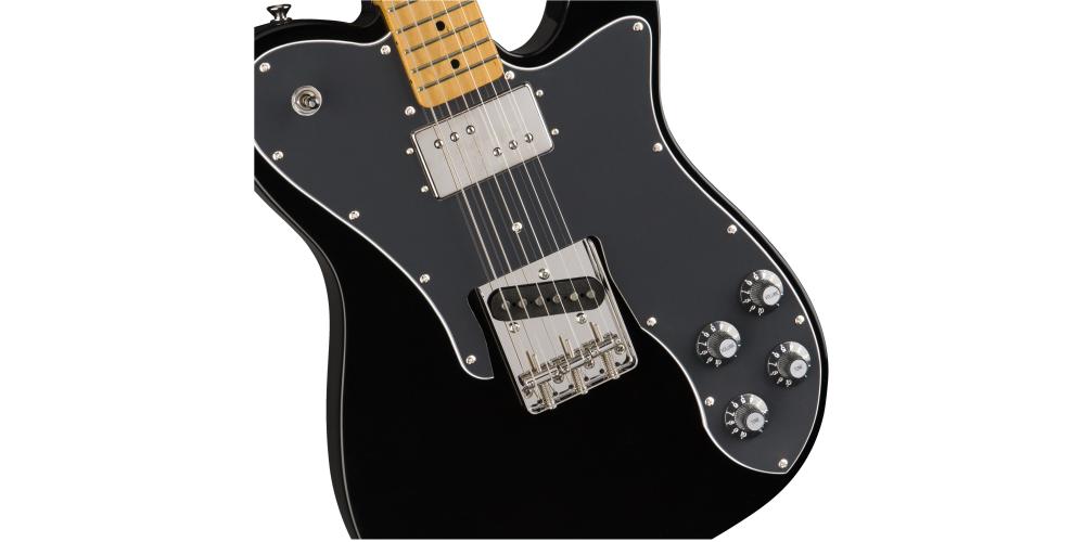 fender classic vibe 70s telecaster custom maple fingerboard black pastillas