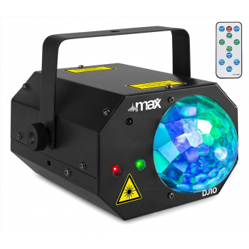max DJ10 Jelly Moon con un Potente Laser Rojo y Verde 151702