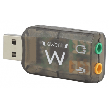 EW3751 USB (Convierte Auriculares Mini Jacks a USB ). Mini Tarjeta de Sonido USB
