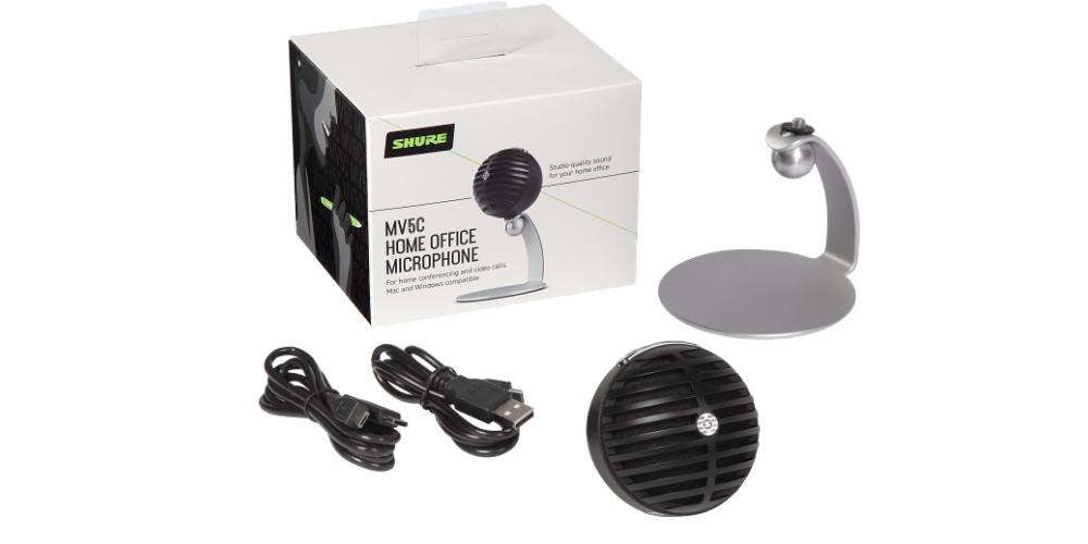 SHURE MV5C USB Microfono digital de condensador acabado con cable USB