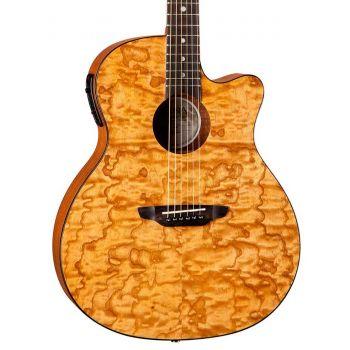 Luna Guitars Gypsy Quilt Ash Gloss Natural. Guitarra Electroacústica