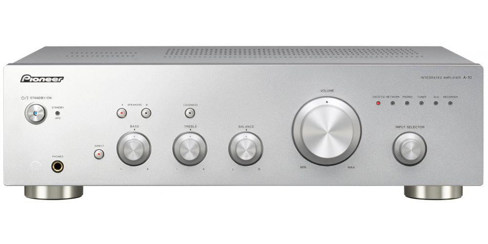 pioneer a 10 silver amplificador entrada phono