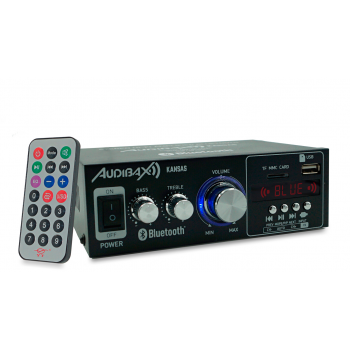 Audibax KANSAS Amplificador HiFi con Bluetooth / MP3 / FM. Entrada SD y USB. 2 x 40W