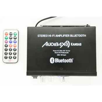 Audibax KANSAS Amplificador HiFi con Bluetooth / MP3 / FM 2 x 40W ( REACONDICIONADO )