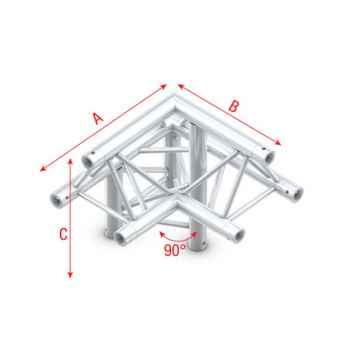Showtec Corner 90 down left apex up Esquina Triangular 3 Direcciones FT30011