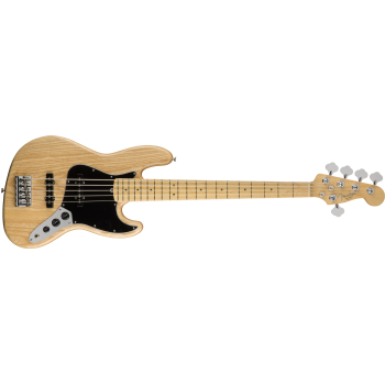 Fender American Pro Jazz Bass V Ash Maple Fingerboard Natural