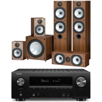 DENON AVR-X2500+Monitor Audio Power 4 Roble Conjunto Home Cinema