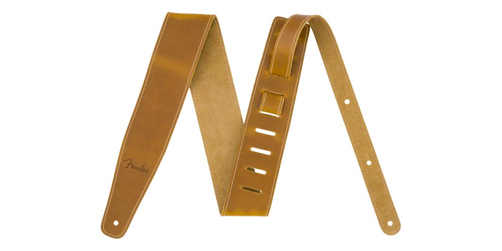 fender broken in leather strap natural 2.5