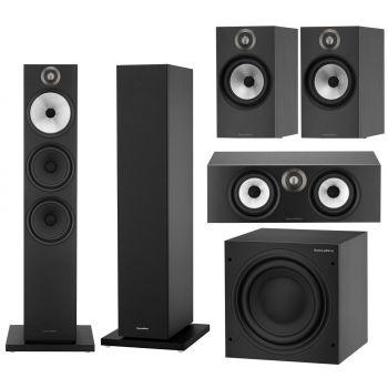 BW 603+BW607+BW HTM6+ASW610 Black Conjunto altavoces Home Cinema