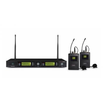 Fonestar MSH-892-631 Micrófono Inalámbrico Doble Petaca UHF