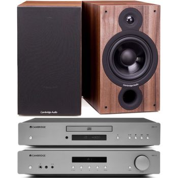 CAMBRIDGE AXA35+AXC35+SX60-Walnut,Conjunto Audio