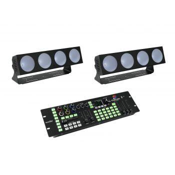 Eurolite Set 2 x LED CBB-4 + DMX LED Color Chief Controlador DMX