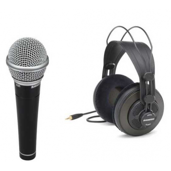 Samson SR-850 Auricular Semi Abierto Estéreo + Micrófono Samson R21