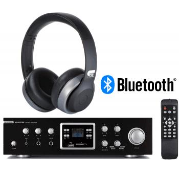 Equipo HiFi Karaoke Bluetooth Fonestar AS-123RUB + Auriculares Bluetooth OT-Harmony ( Operación Triunfo )