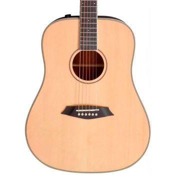 Larry Carlton A3-D Guitarra Acústica Dreadnought Natural
