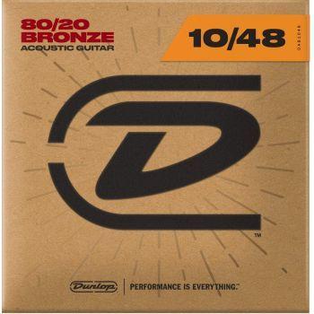 Dunlop DAB1048 Juego Cuerdas Guitarra Acustica Bronze 80/20 Extra Ligth 10-48