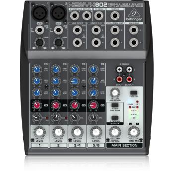 BEHRINGER 802 XENYX Mezclador 8 Canales