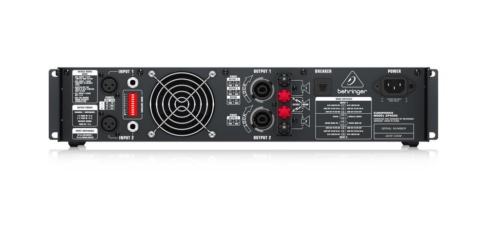 behringer EP4000 conexiones
