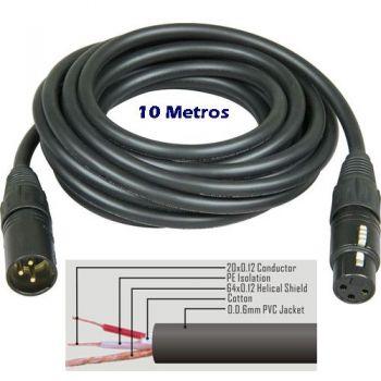 cable microfono xlr canon 10m