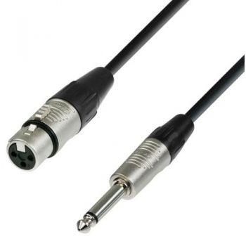 ADAM HALL Cable REAN Jack Mono 6,3 a XLR Hembra 3 Metros RF:50