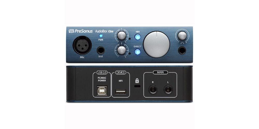presonus audiobox ione fron