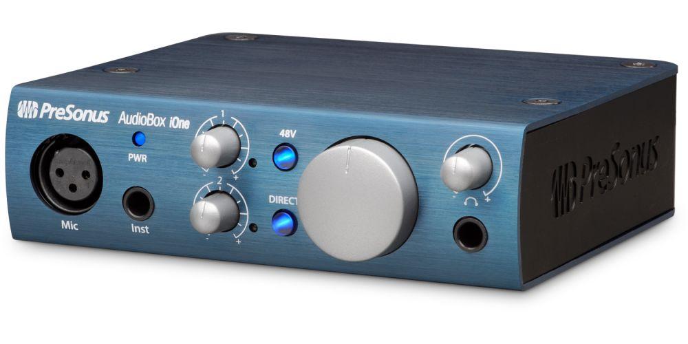presonus audiobox ione interface audio midi front