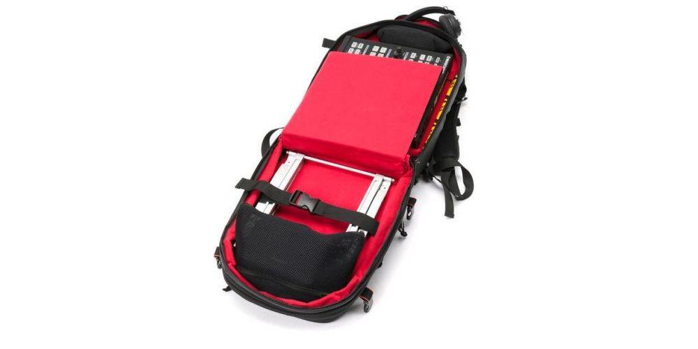interior magma riot dj backpack