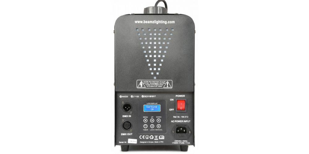 BEAMZ H2000 Faze Maquina de niebla con DMX 160512