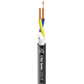 Adam Hall K4 LS 225 HF Cable de altavoz 2 x 2,5 mm² negro altamente flexible Bobina 100m