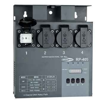 Showtec RP-405 MKII Relay Pack Conmutador DMX 50753