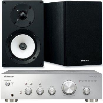 Pioneer  A10S+Onkyo D055 Conjunto audio