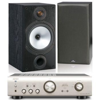 DENON PMA-520-SI+Monitor Audio MR2 BK Conjunto Audio