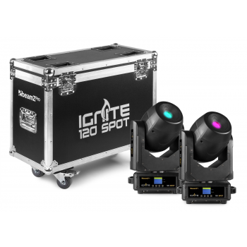 Beamz IGNITE120 SET 2 CABEZA MOVIL SPOT 120W LED EN 150424