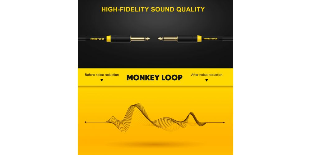 monkey loop pro stage silent cable jack mono jack mono noise reduction