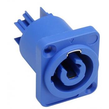 Adam Hall 7921 V2 Conector chasis macho de entrada, azul
