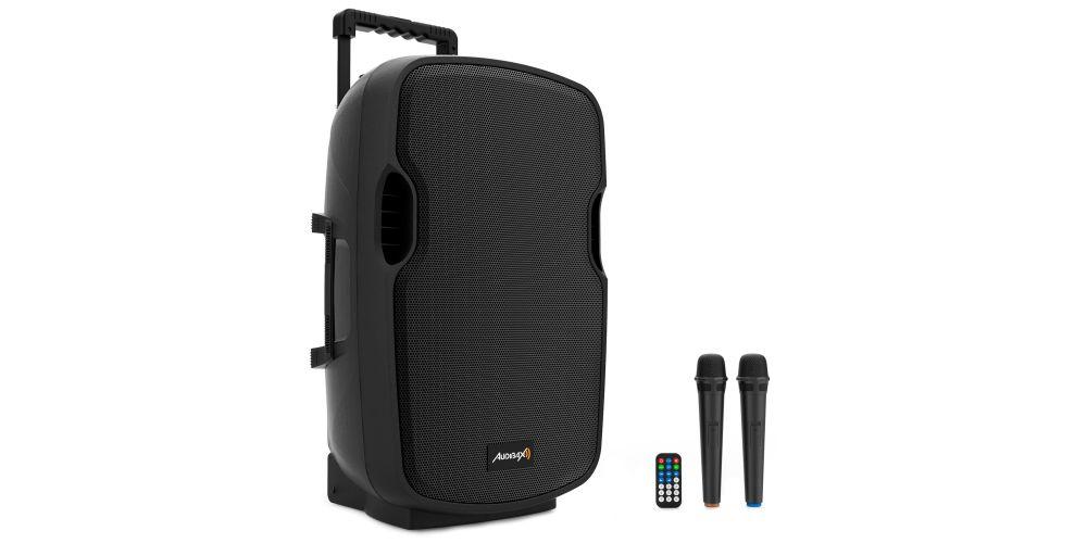 audibax denver15 altavoz amplificado microfono