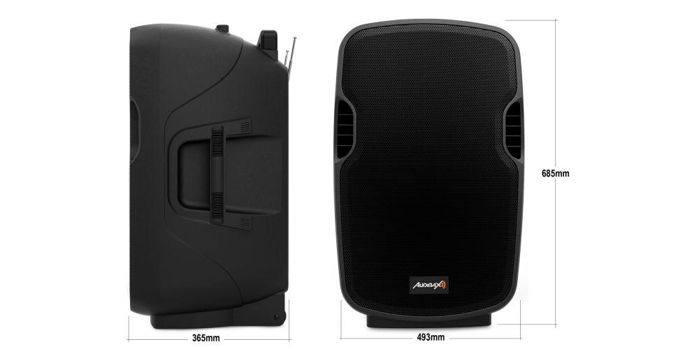 audibax denver15 altavoz portatil medidas