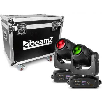 Beamz IGNITE150B Cabeza Movil LED Beam 2pcs en Flightcase 150373IGNITE150B