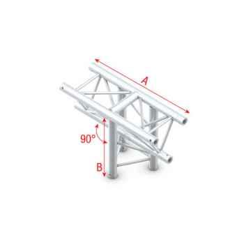 Showtec T-Cross vertical 3-way apex down Cruce en T 3 Direcciones GT30018