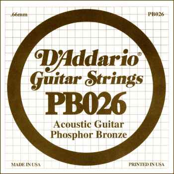 D´addario PB026 Cuerda Suelta para Guitarra Acústica