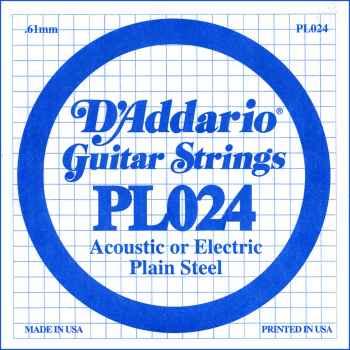 D´addario PL024 Cuerda Suelta para Guitarra Eléctrica y Acústica