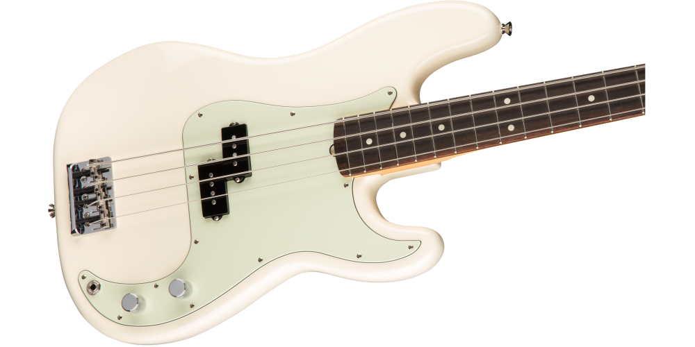fender american pro precision bass rosewood fingerboard olympic white cuerpo