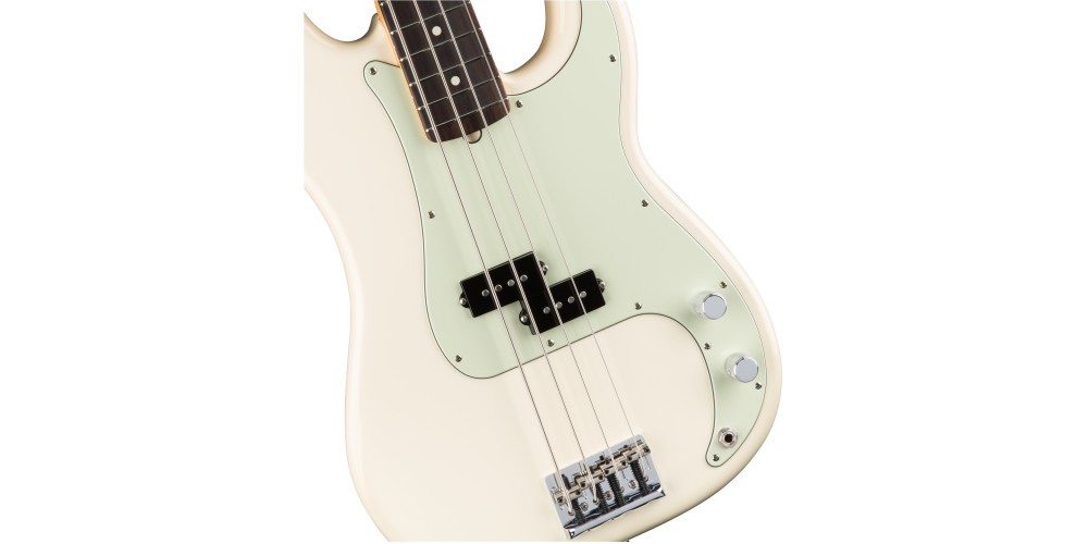 fender american pro precision bass rosewood fingerboard olympic white pastillas
