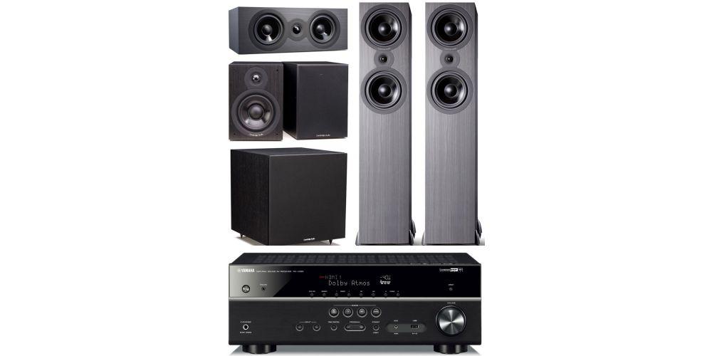 yamaha rxv585 2500 Cambridge Audio SX 80 cinema pack sx120 sx80 sx70 sx50 black conjunto home cinema