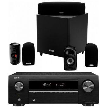 DENON Equipo AV AVR-X250BT+ Polk Audio TL1600 Altavoces Home Cinema