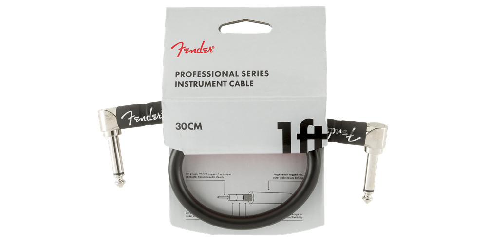 fender profesional cable angle plug 30cm patch