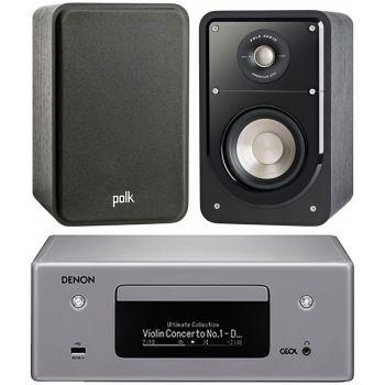 DENON RCD-N10 Gris+Polk Audio Signature S15